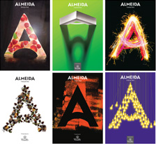 Selection of redesigned 'A's for the Almeida Theatre